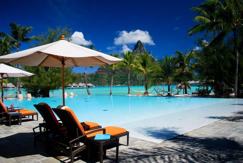 Bora Bora resort royalty free stock photos