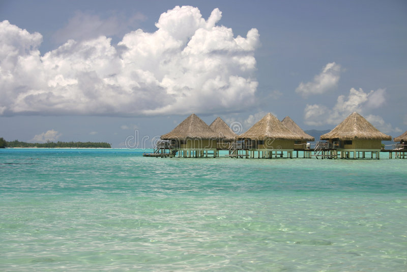Download Bora Bora summer resort stock photo. Image of lagoon, climate - 5233112