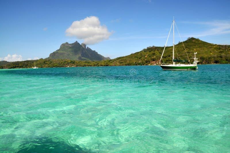 Bora pristine sea stock photo