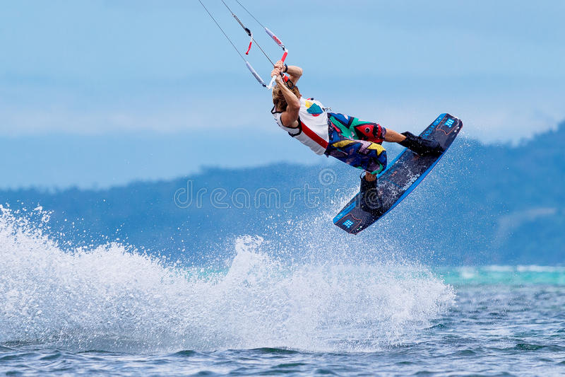 Boracay internanional funboard filiżanka 28-31 Styczeń, 2015 Bory fotografia stock