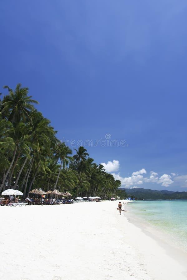 Boracay island blue sky white beach philippines royalty free stock image