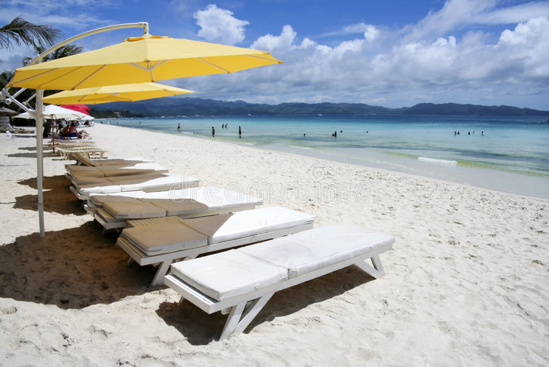 Boracay island white beach resort philippines stock photography