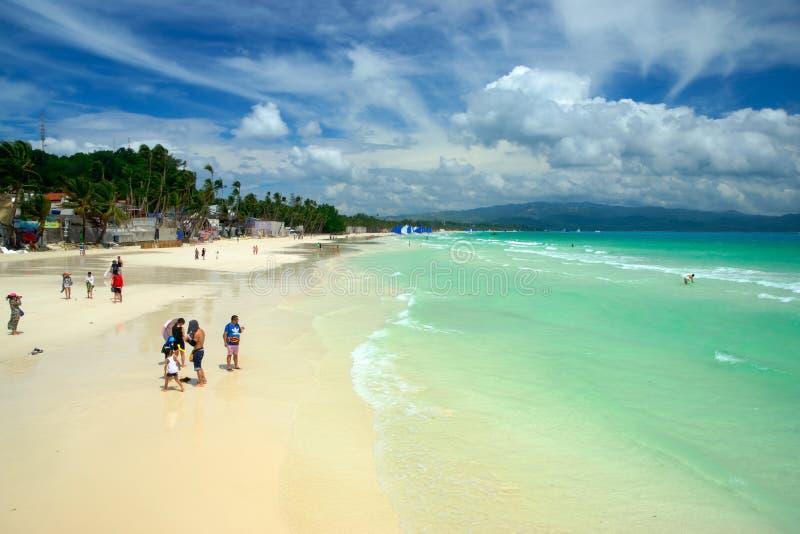 Boracay, Philippinen Weißer Strand stockfoto