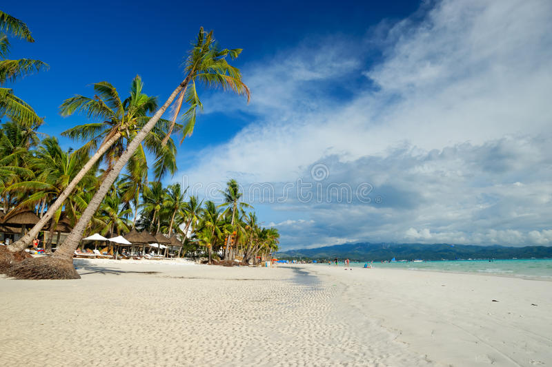 Boracay, Philippinen Weißer Strand stockfotografie