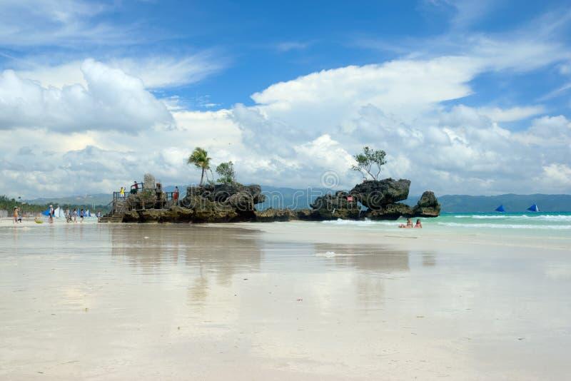 Boracay, Philippinen Weißer Strand lizenzfreies stockfoto