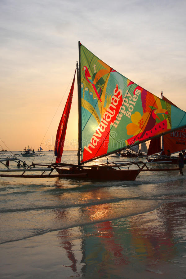 Boracay sunset stock photos