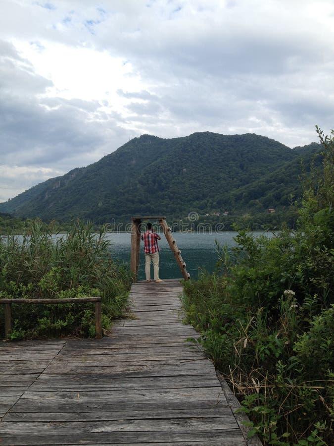 Boracko湖在科尼茨,波黑 库存照片