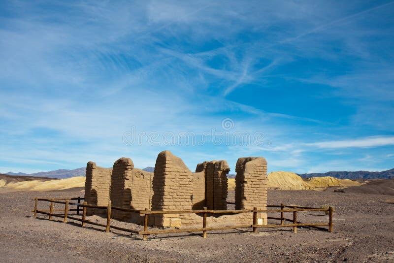 Borax mine ruins stock image