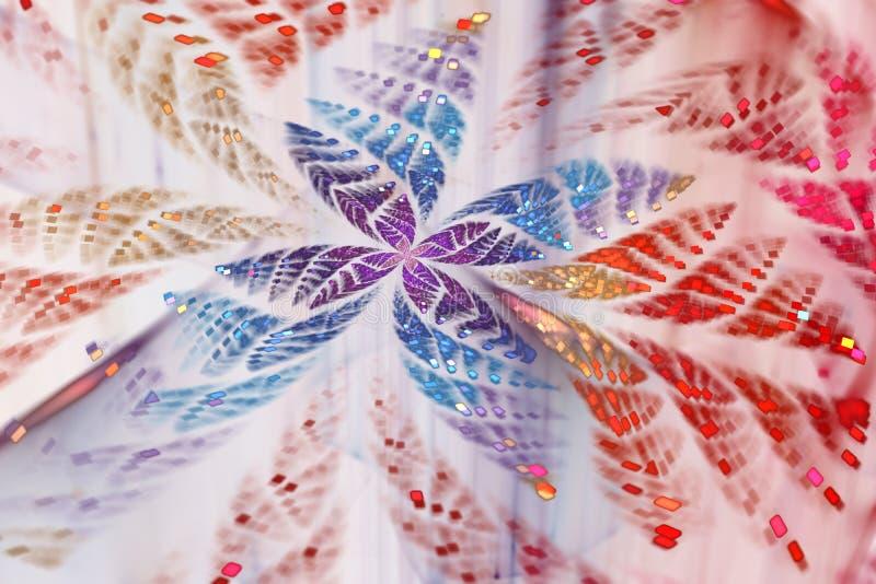 Borboleta abstrata de brilho do fractal ilustração royalty free