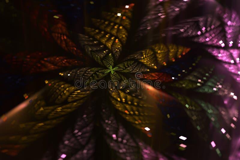 Borboleta abstrata de brilho do fractal ilustração do vetor