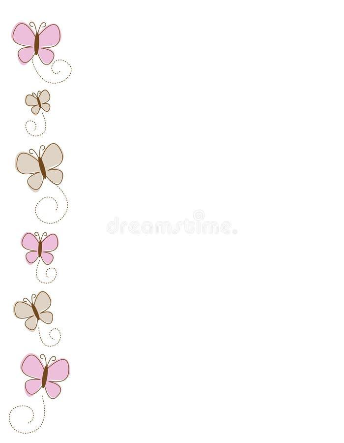 Borboleta/beira lateral das borboletas ilustração do vetor