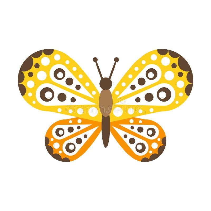 A borboleta bonita colorida com asas abertas vector a ilustração ilustração do vetor