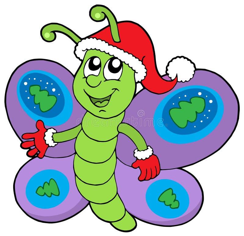 Borboleta bonito do Natal ilustração royalty free