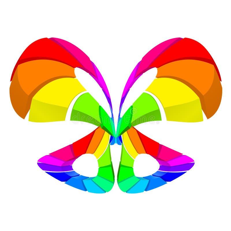 Borboleta colorida abstrata ilustração stock