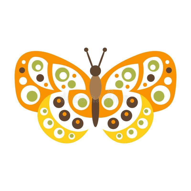A borboleta colorida bonito com asas abertas vector a ilustração ilustração do vetor