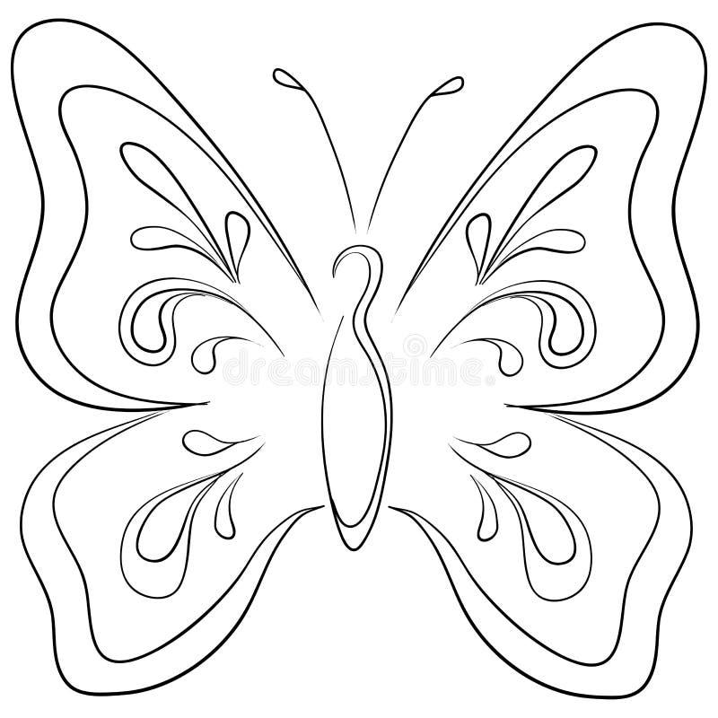 Borboleta, contornos ilustração royalty free
