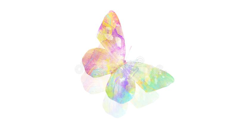Borboleta da aquarela inseto tropical para o projeto Isolado no fundo branco fotos de stock