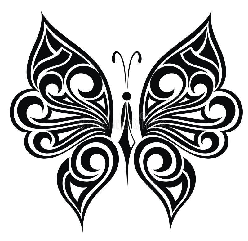 Borboleta da tatuagem ilustração royalty free