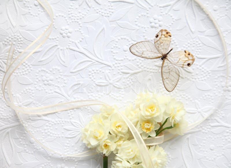Download Flores Amarelas Com Borboleta E Fita Imagem de Stock - Imagem de mola, casamento: 29838643