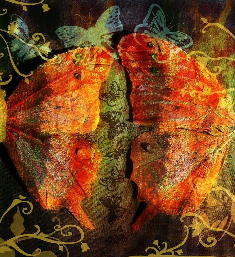 Borboleta de Grunge ilustração royalty free