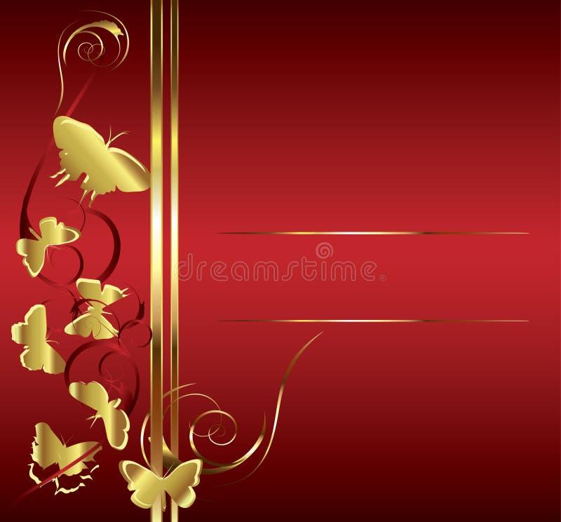 Borboleta do ouro ilustração do vetor