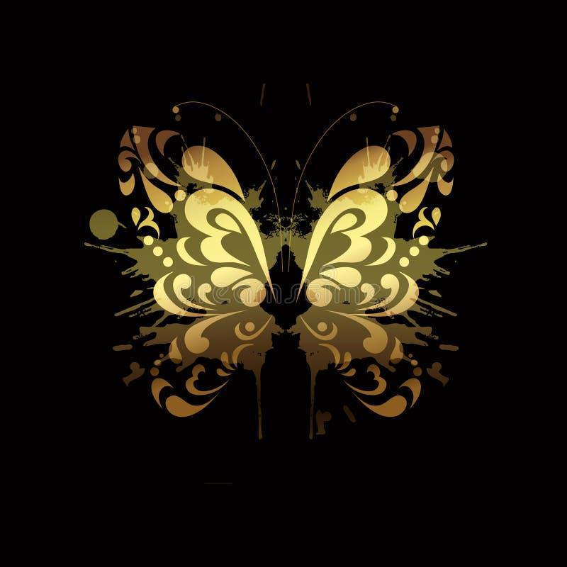 Borboleta do ouro ilustração stock