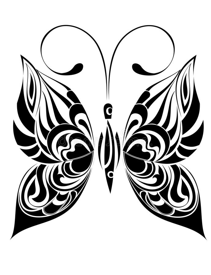 Borboleta do tatuagem ilustração do vetor