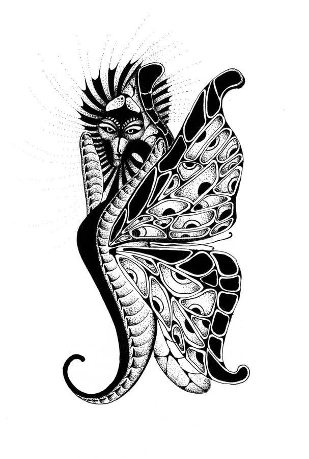 Borboleta-dragão ilustração do vetor