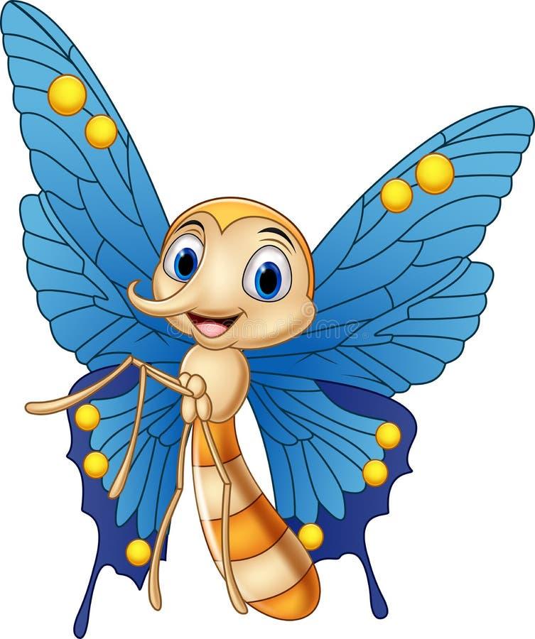 borboleta engraçada dos desenhos animados ilustração do vetor