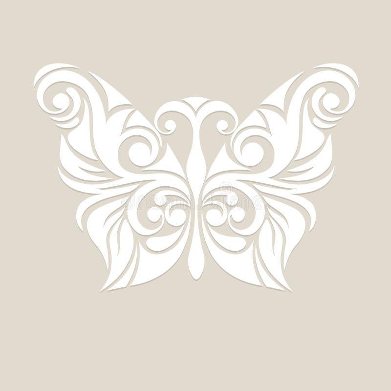 Borboleta estilizado em cores pastel ilustração royalty free