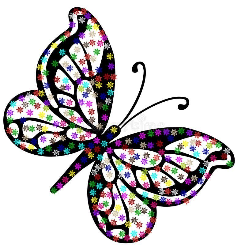Borboleta floral do vetor ilustração stock