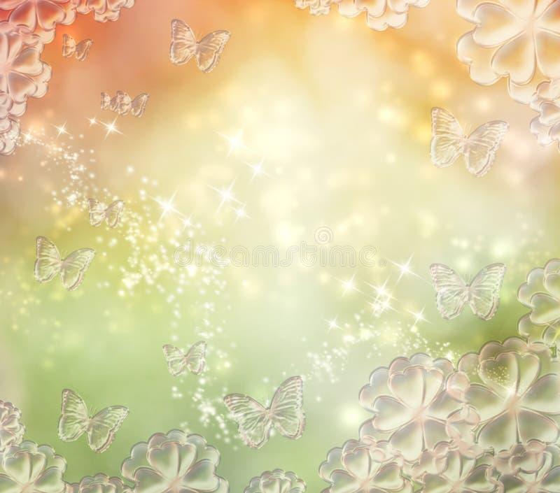 A borboleta ilumina o fundo ilustração stock