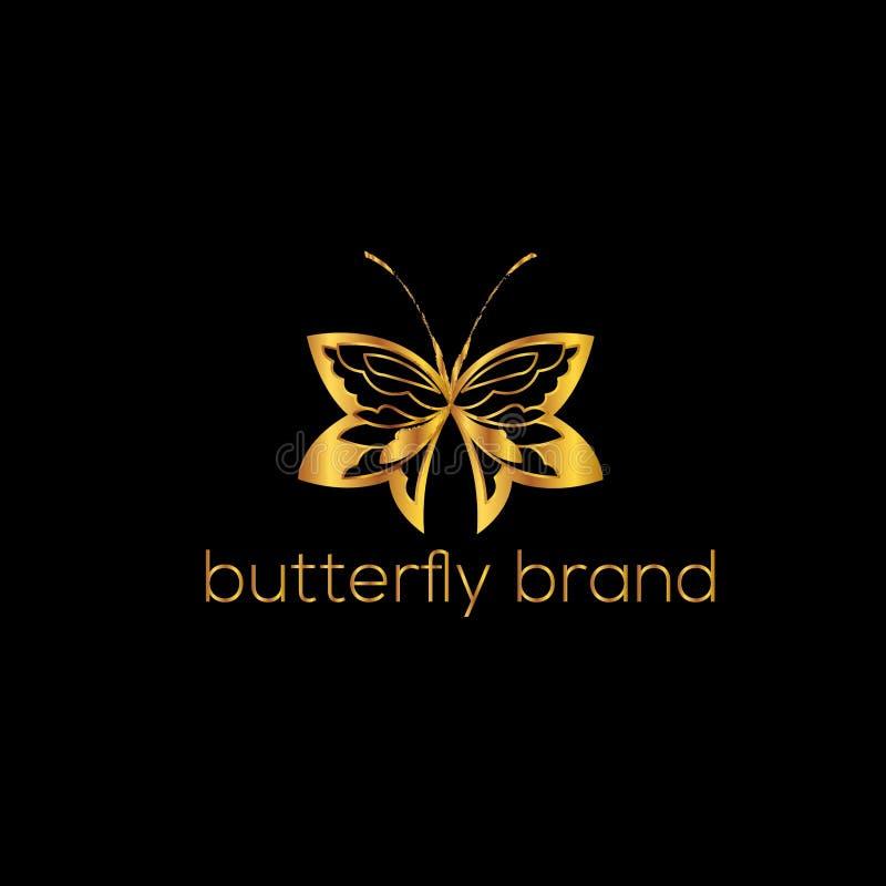 Borboleta Logo Template Ilustração do vetor ilustração royalty free