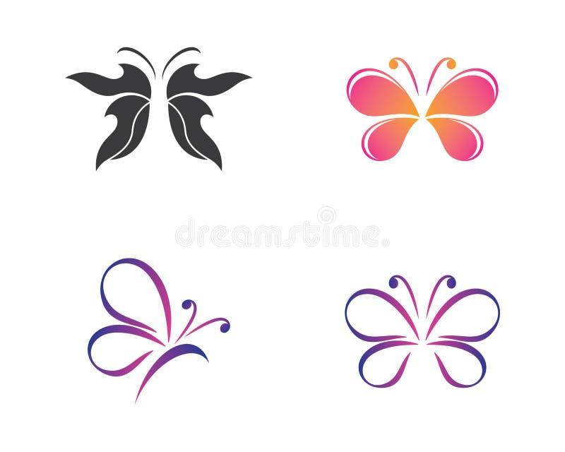 Borboleta Logo Template ilustração stock