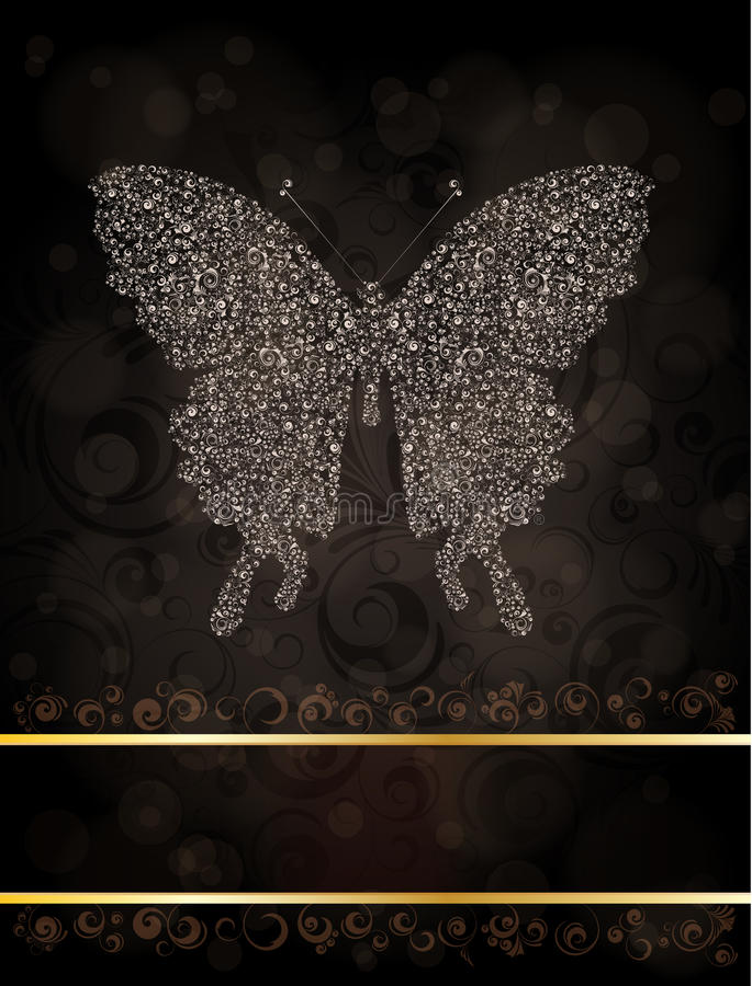 Borboleta Ornamented ilustração stock