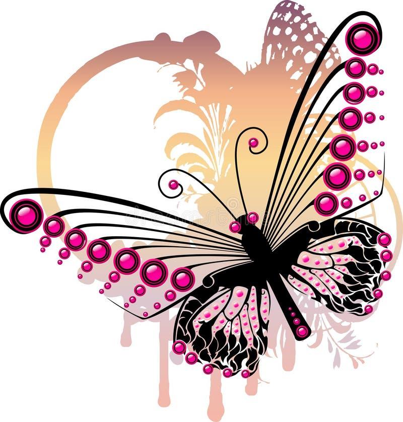 Borboleta roxa ilustração stock