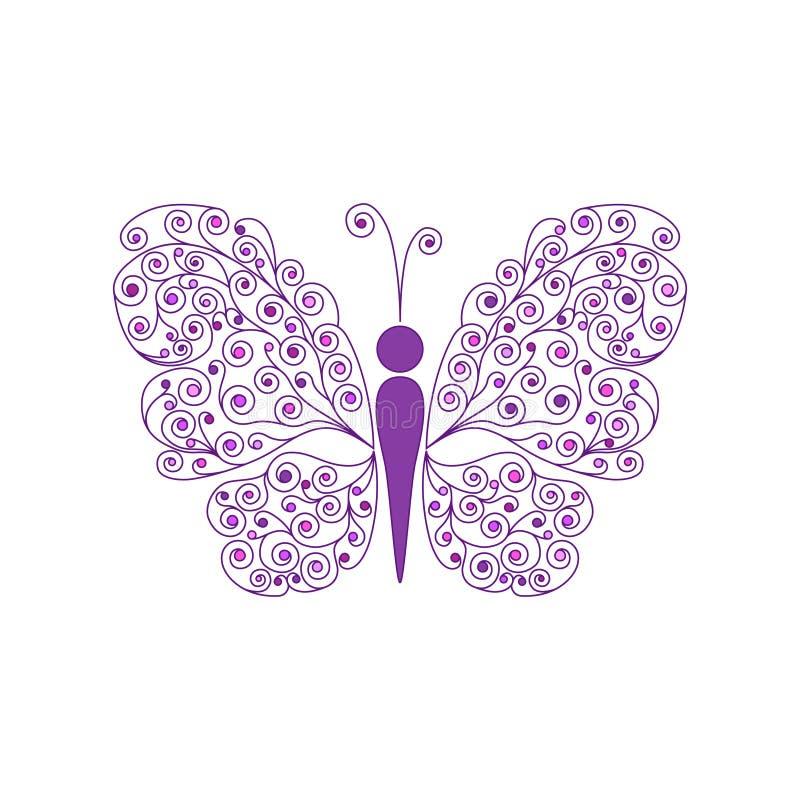 Borboleta surpreendente da mosca Vetor ilustração do vetor