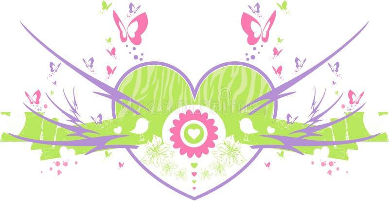 Borboleta Valentine Heart ilustração stock
