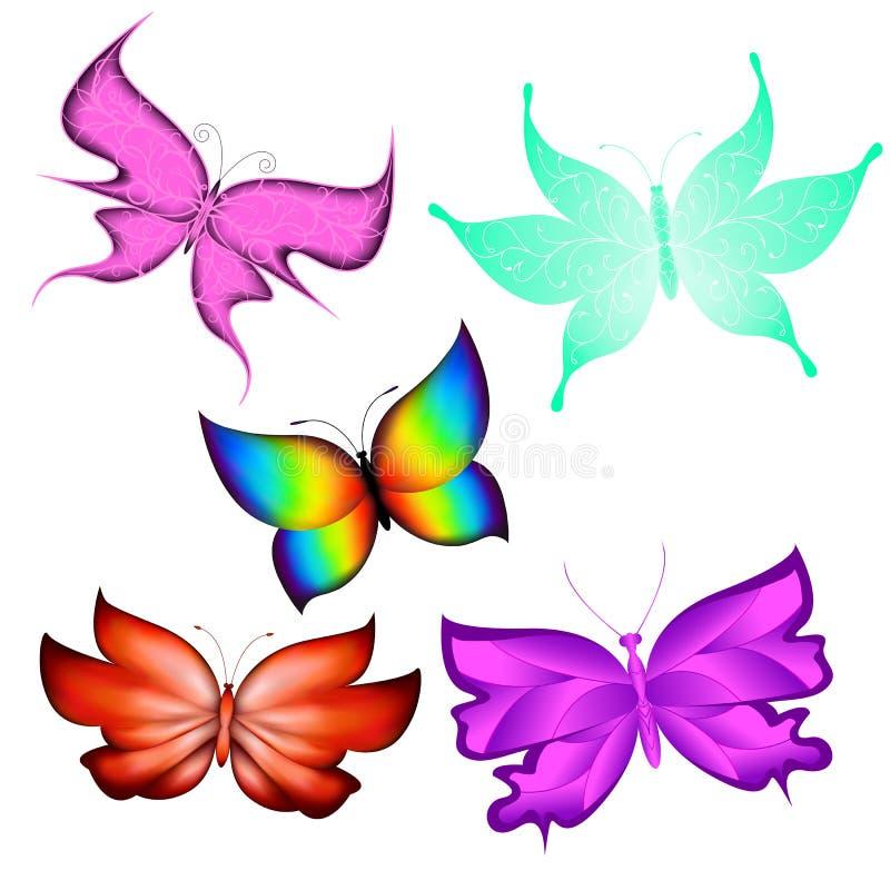 borboletas ilustração do vetor