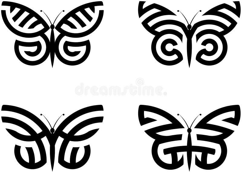 Borboletas abstratas ilustração royalty free