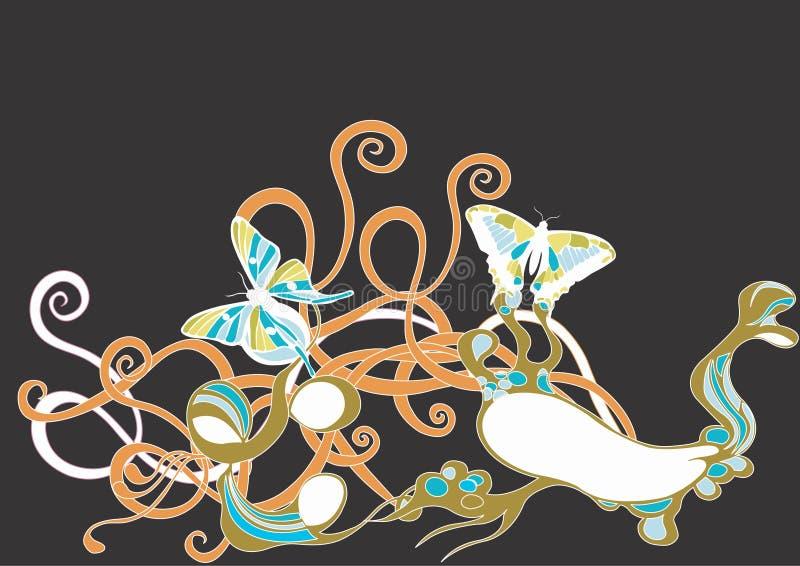 Borboletas abstratas ilustração stock