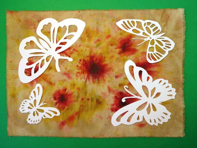 Borboletas brancas. Corte de papel. imagem de stock royalty free