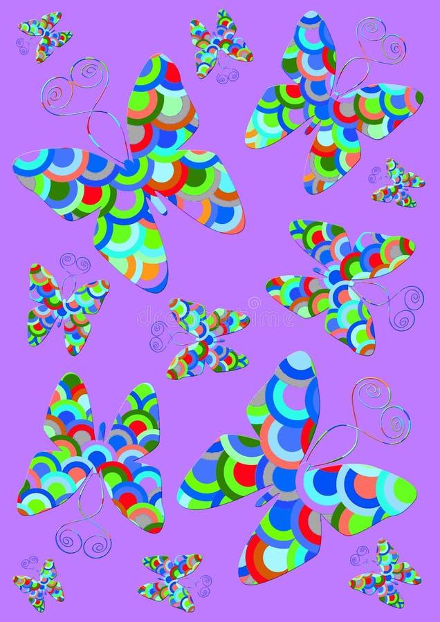 Borboletas coloridas ilustração do vetor