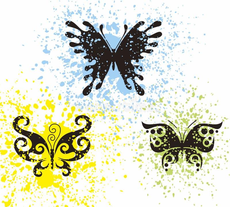 Borboletas do tatuagem ilustração stock