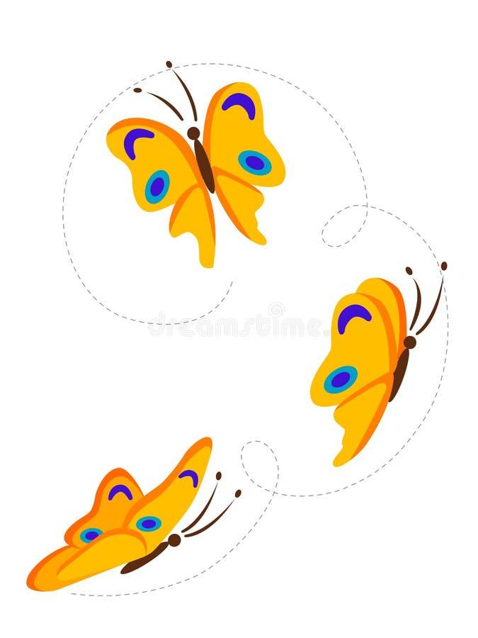 Borboletas do vôo ilustração royalty free