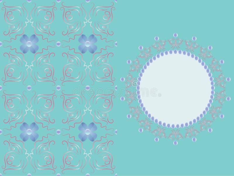 Borboletas e grânulos abstratos no teste padrão e no elemento decorativo foto de stock royalty free