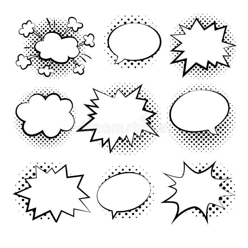 Borbulha a ilustração cômica do duddle do vetor do estilo ilustração royalty free