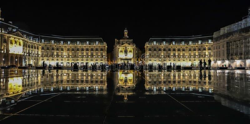 Bordéus, França Espelho da água imagem de stock royalty free