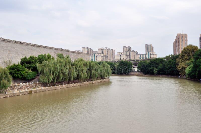 Bord antique de mur de Nanjing photographie stock libre de droits