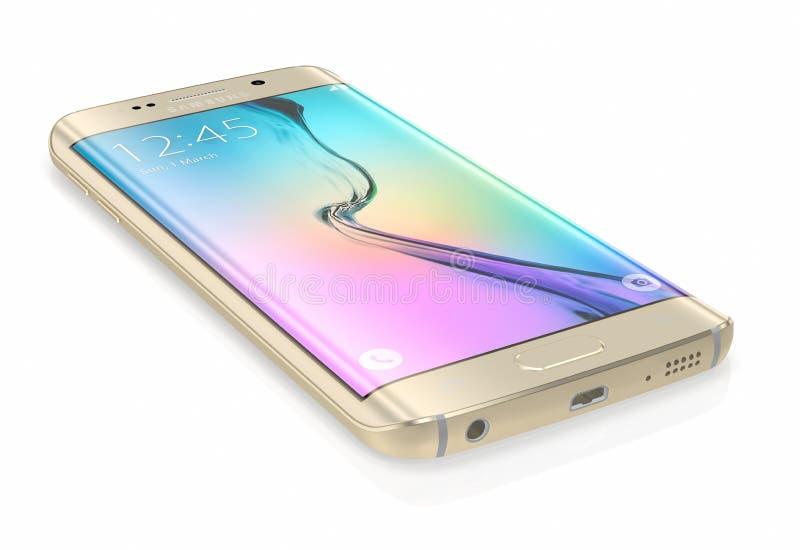 Bord de la galaxie S6 de Samsung de platine d'or
